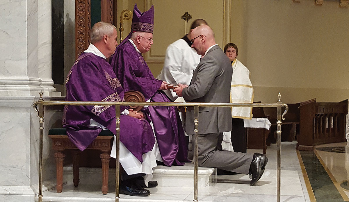 Deacons installed as lectors.