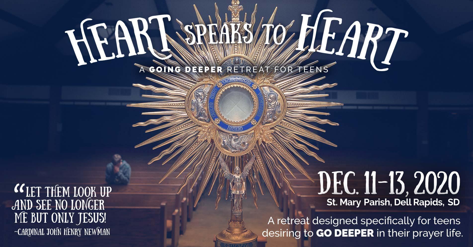 Heart Speaks to Heart - Going Deeper Retreat